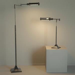 floor lamp table loft 3D model