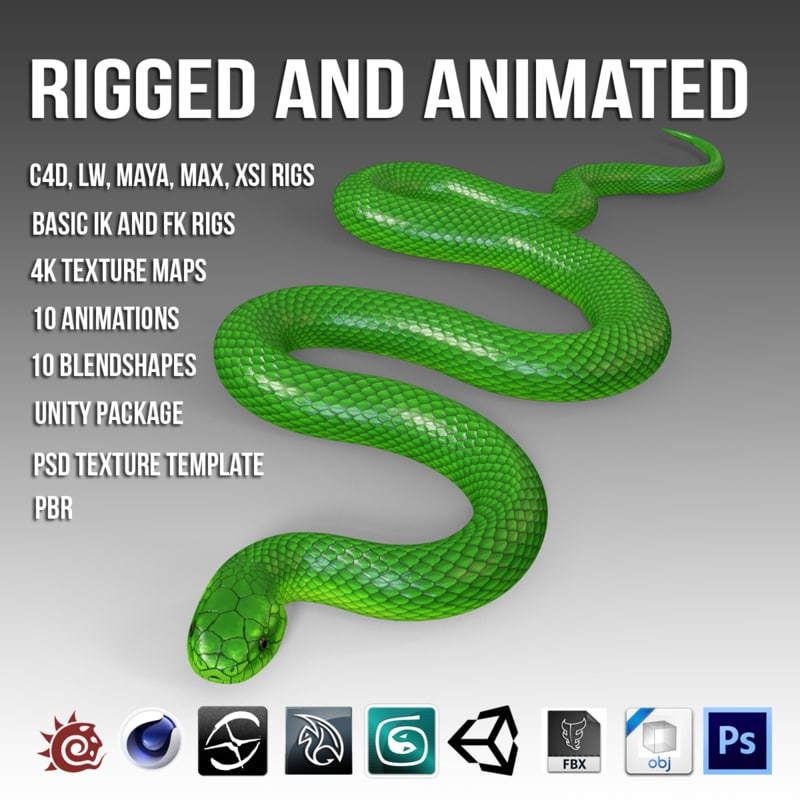 3D green mamba