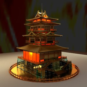 chinese ancient house 3D model