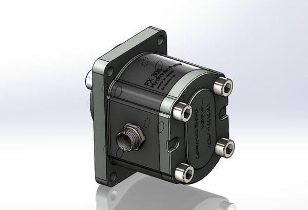 3D pump hydraulic model