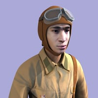 3D model soviet pilot