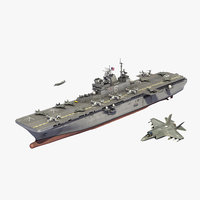 uss america lha6 air 3D model