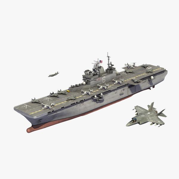 uss america lha6 air 3D model