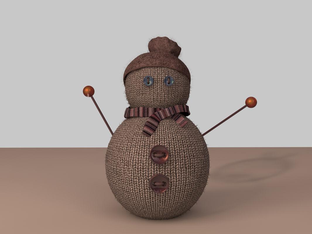 3D snowman wool