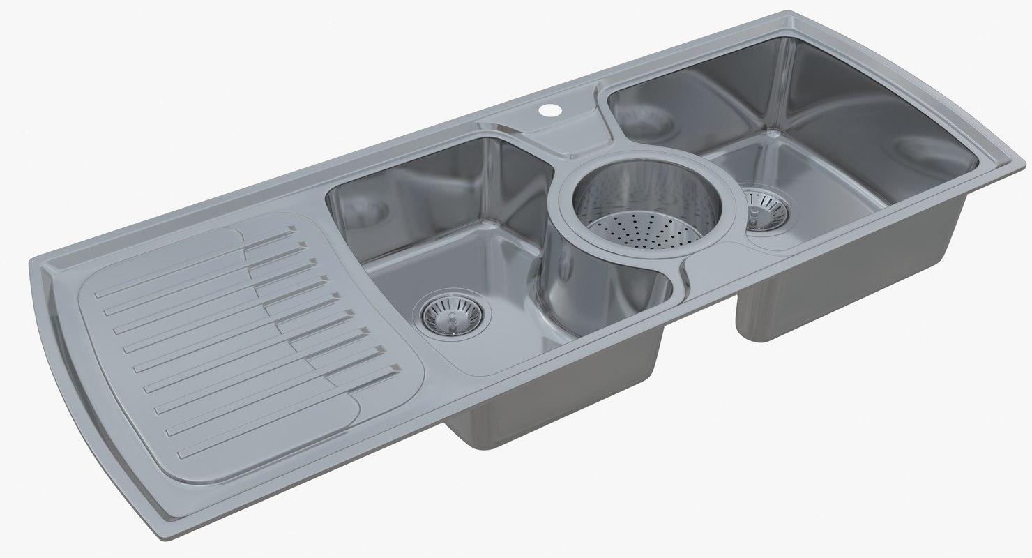 3D model sink oulin yl-303