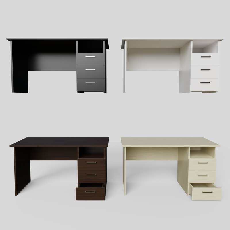 office desk ready pbr 3D model