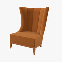 3D model chair wing