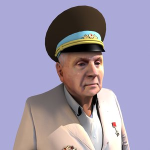 man retired soviet general model