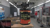 Fish oil bottle