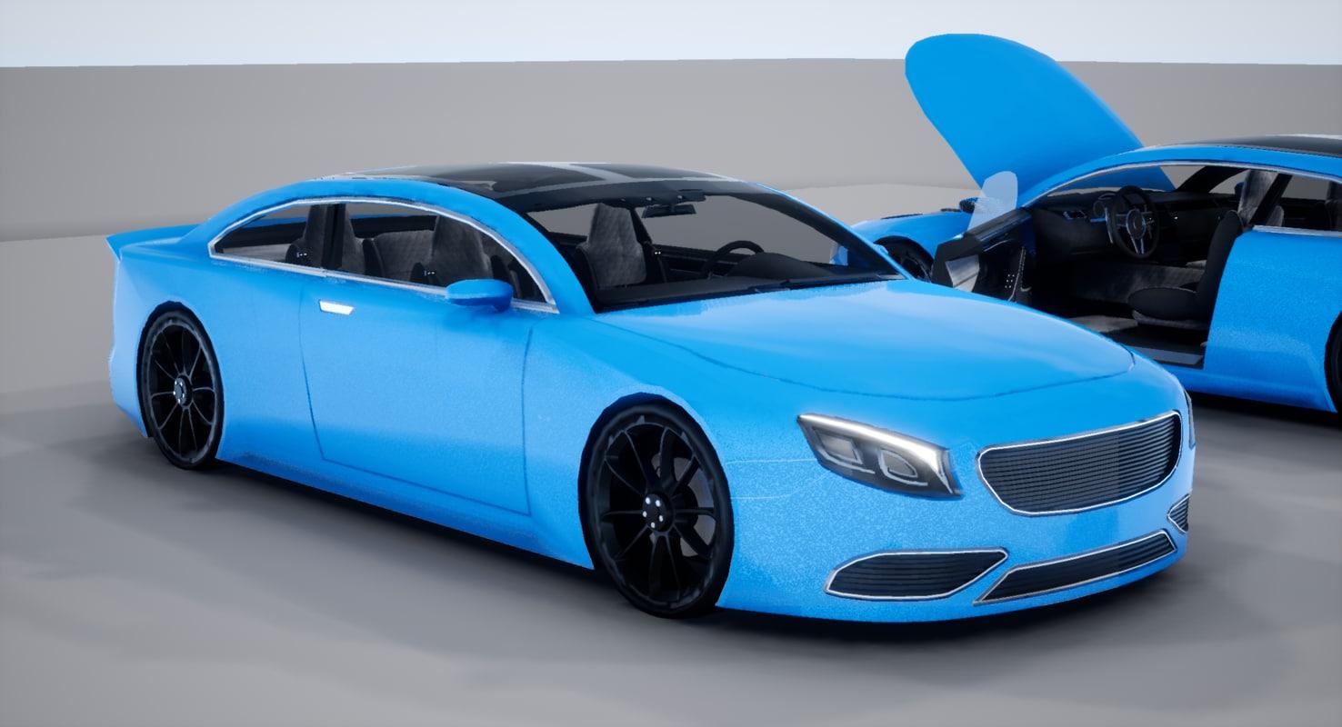 car size coupe 2 3D model