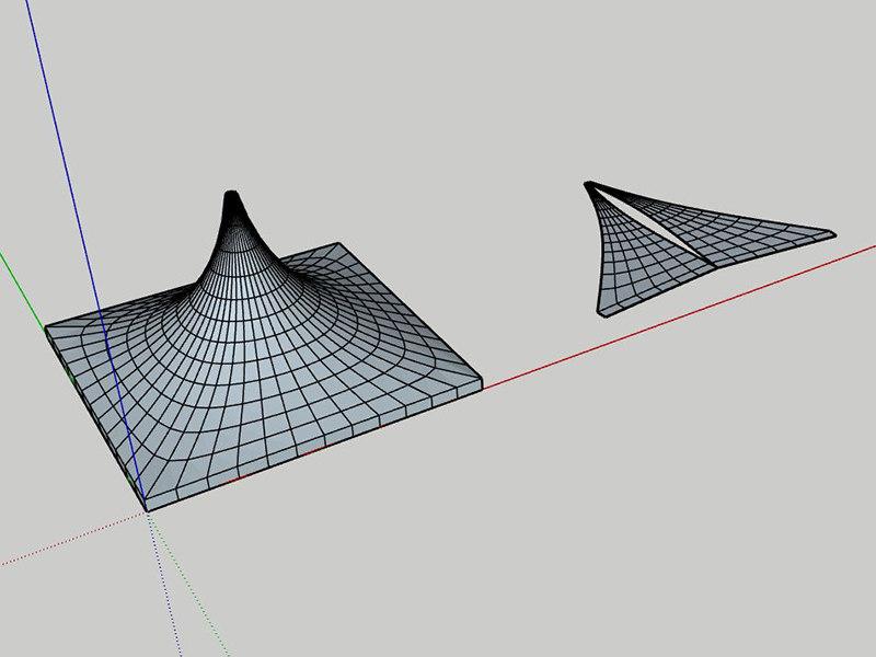 3D peak tent patterns model