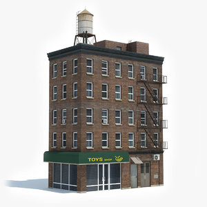 ready apartment building 3D
