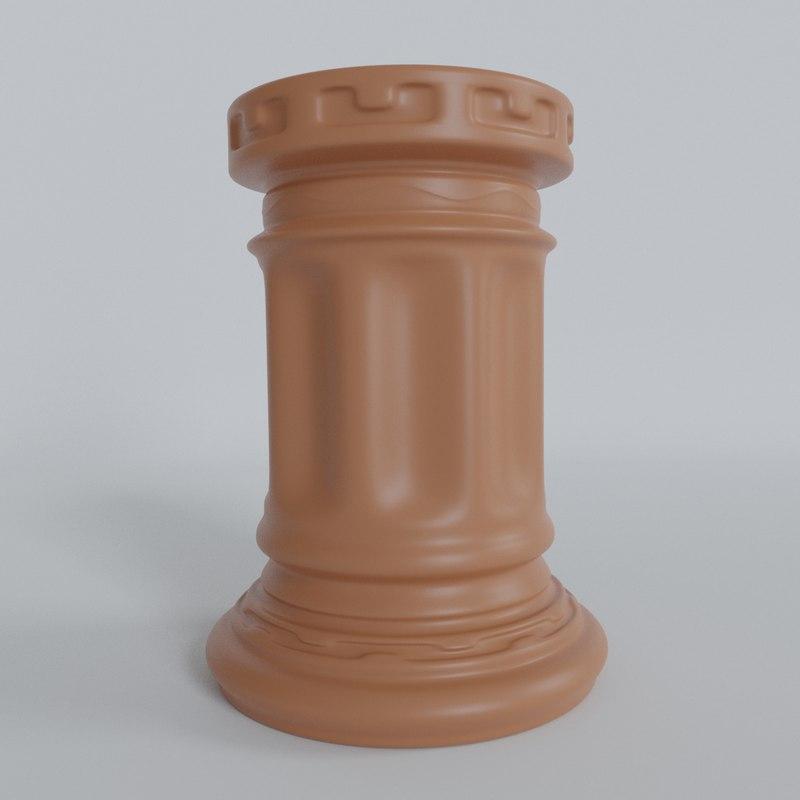 3D model stand pens holder