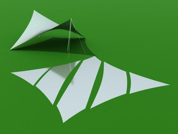 shade sail patterns 3D model