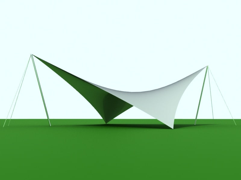shade sail patterns 3D model