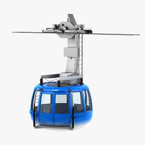 3D cable way car
