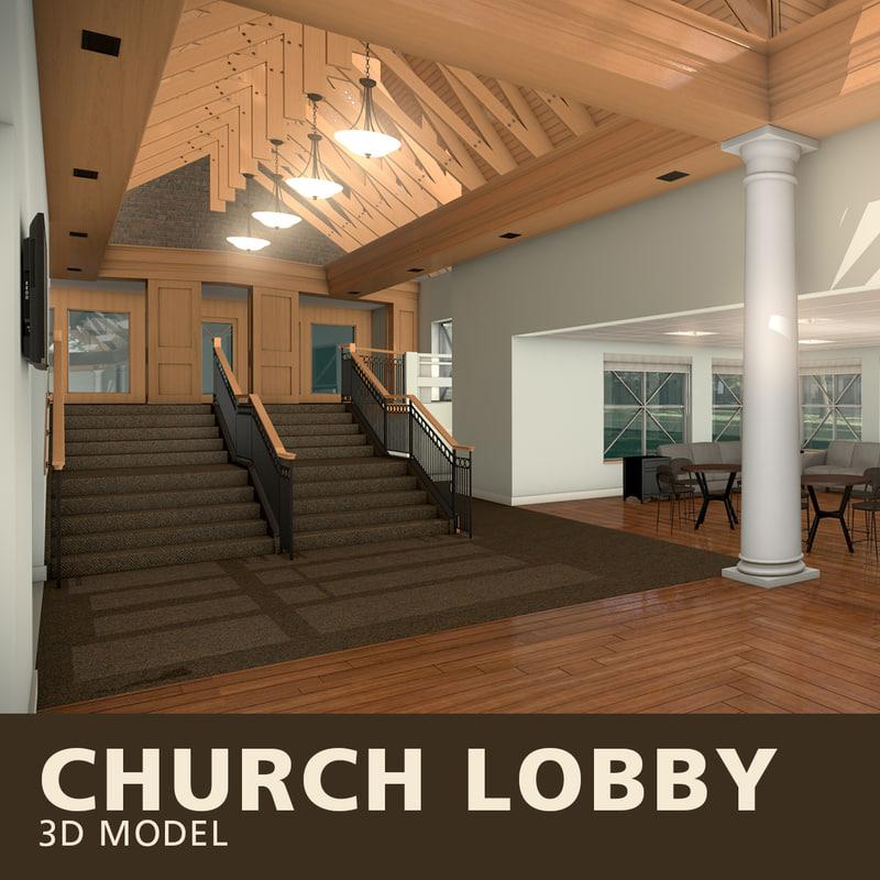 church lobby 3D