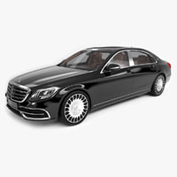 3D model mercedes maybach s600 2018