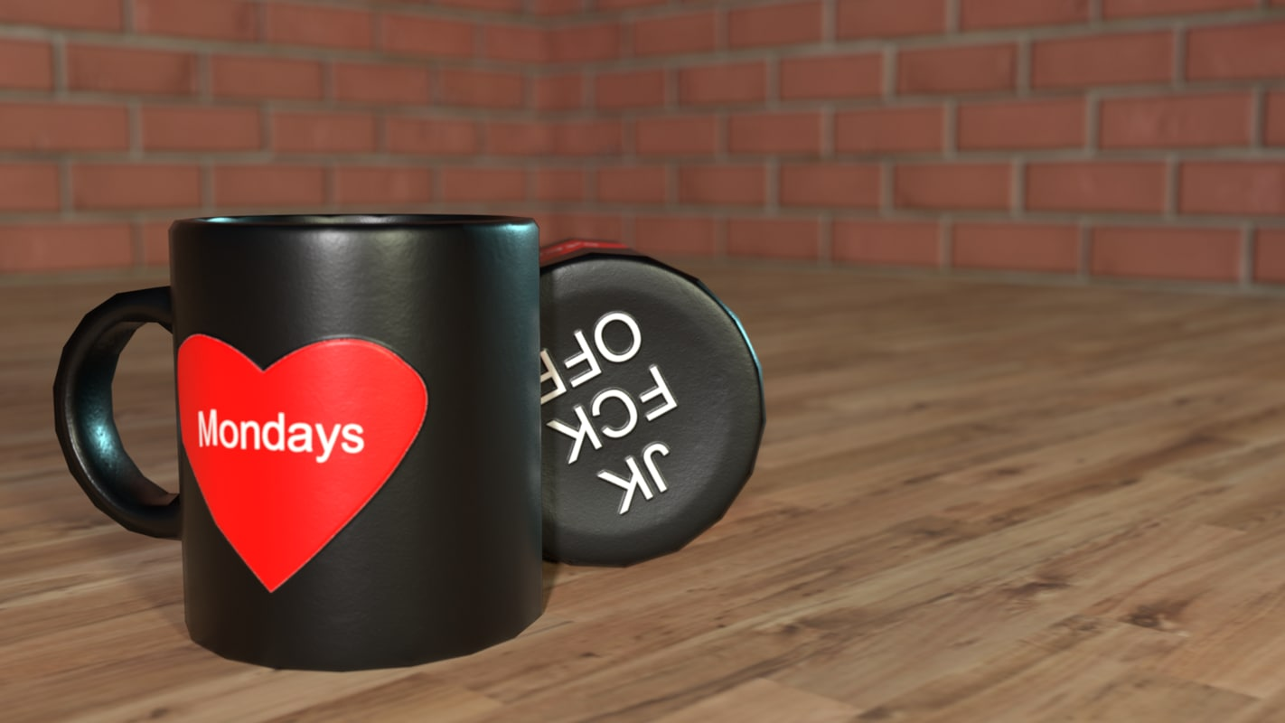 3D simple coffee mug