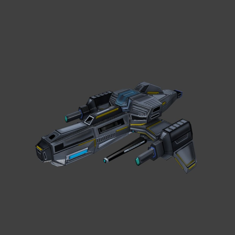 space spaceship ship 3D