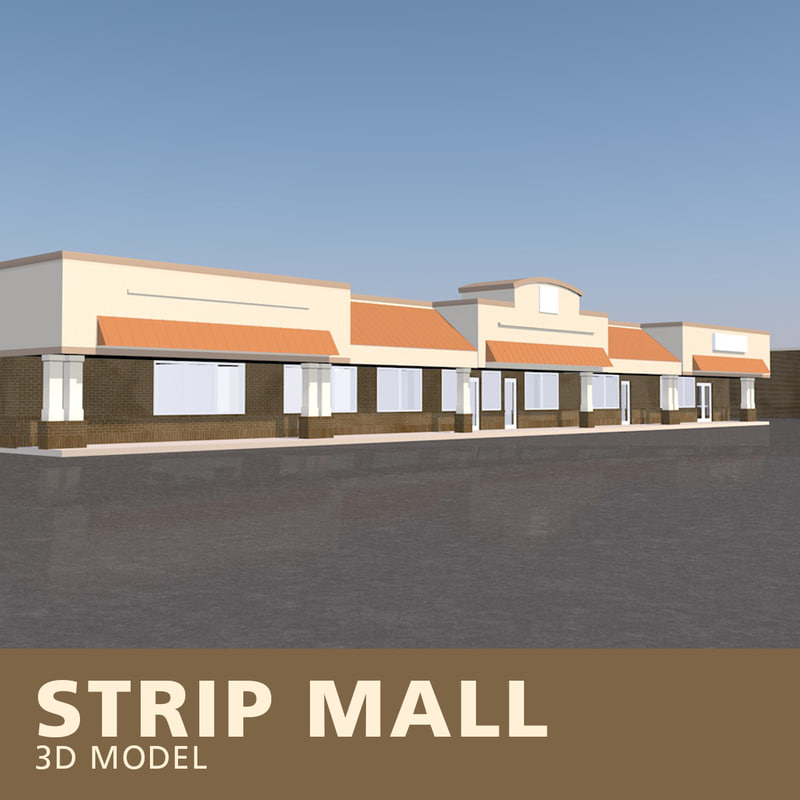 3D strip mall
