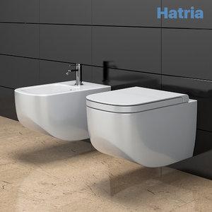 toilet bowl bidet hatria model