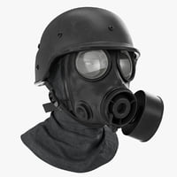 army s10 gas mask 3D