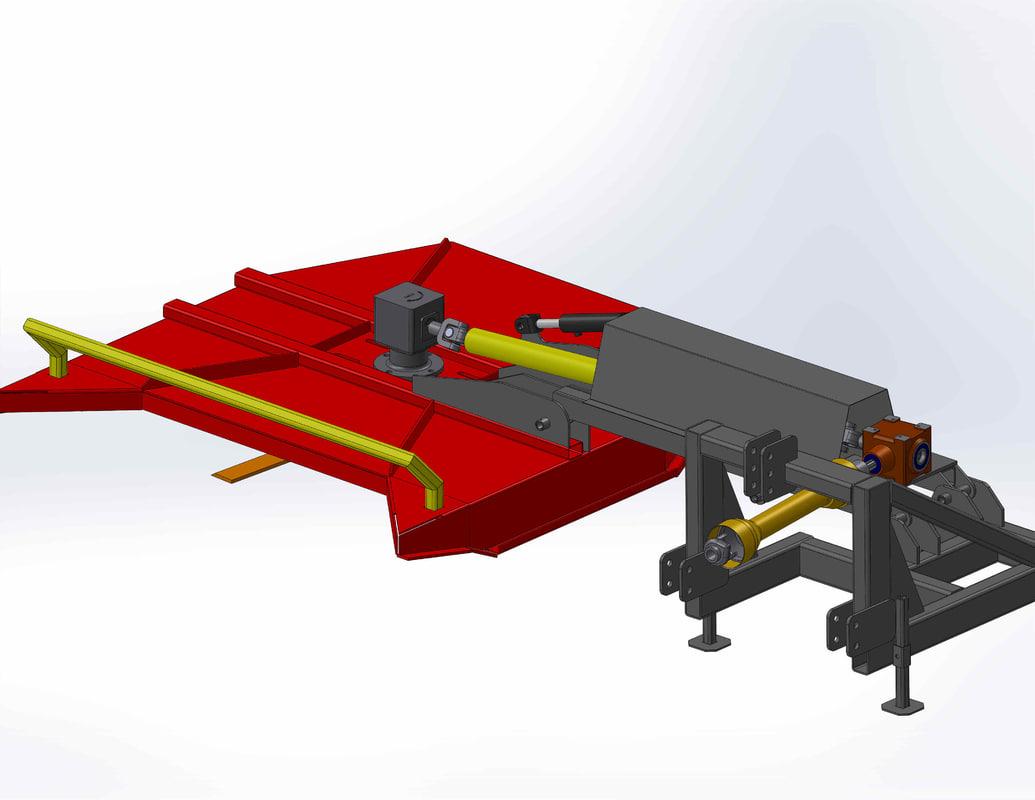 3D brush cutter model