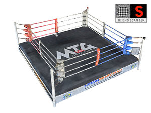 real ring -boxing muay 3D model