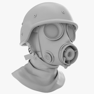 3D army s10 gas mask