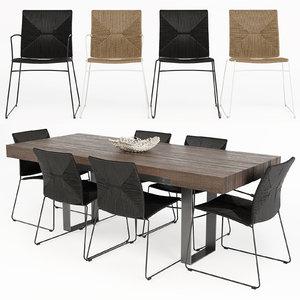 3D wayfair dining table