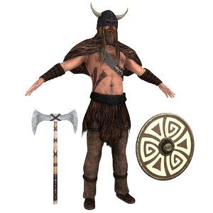 barbarian rigging man 3D model
