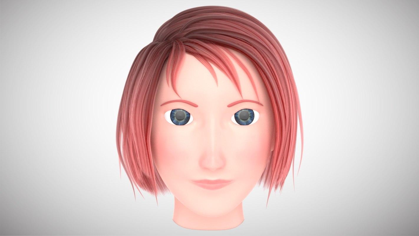 character head 3D