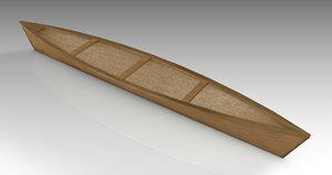 canoe 3D model