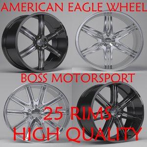 3D boss motorsport rims