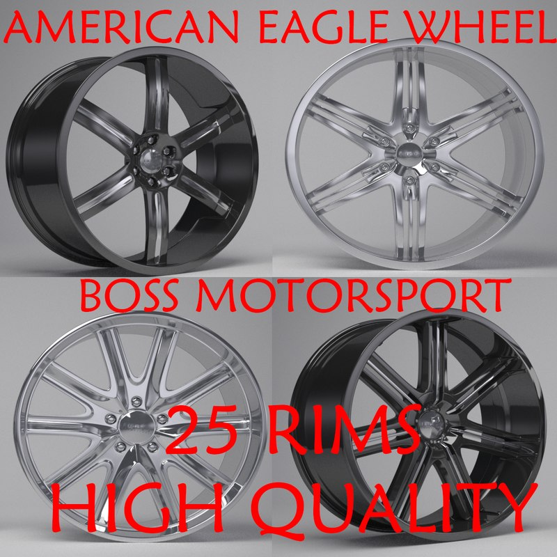 3D boss motorsport rims