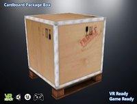 optimized cardboard package 3D model