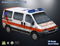 optimized ambulance car 3D model