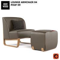 skid 04 chair armchair 3D model