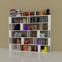 3D shelves books