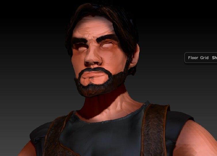 male head 3D