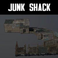3D model junk shack