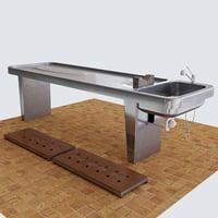 3D table pathologist model
