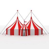 3D big circus tent model