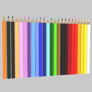 colored pencils model