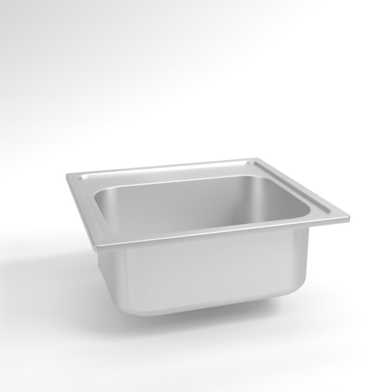 3D interior franke sink euroform model