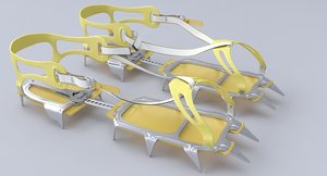 salewa crampons 3D model