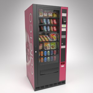 3D interior omnimatic snack vending machine