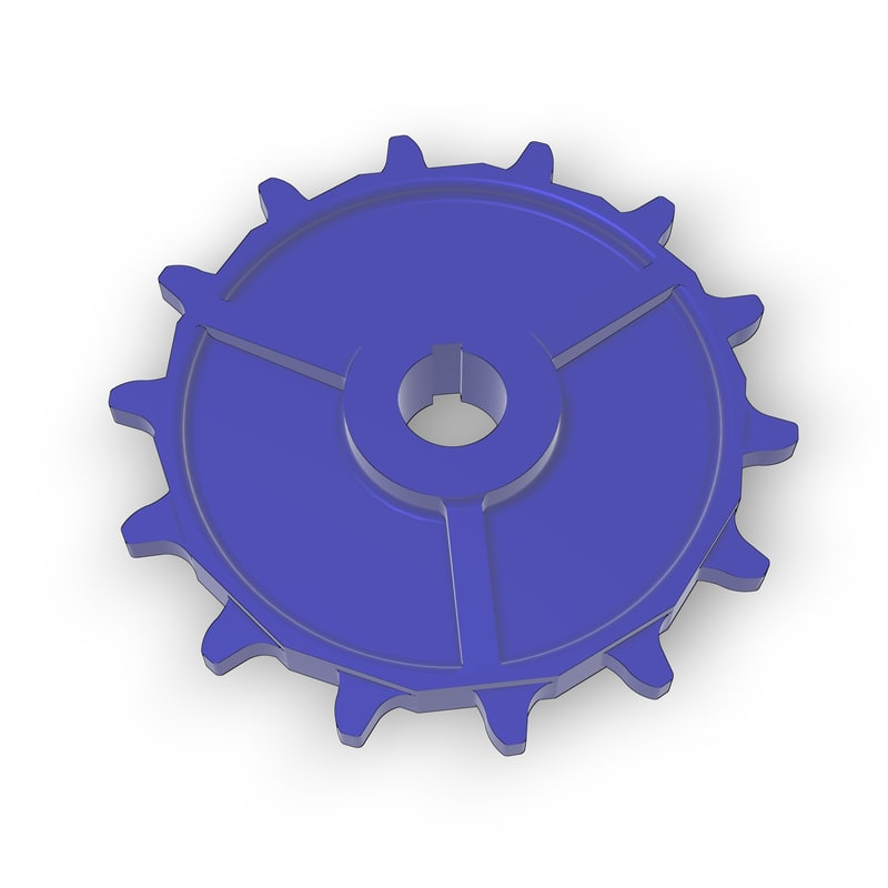 3D chain wheel sprocket