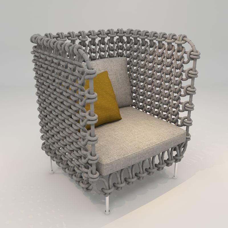 sofa lounge 3D model